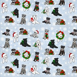 Christmas Schnauzers and Snowflakes Small
