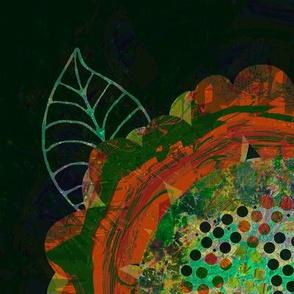 Modern Retro: Green Scribble Flower Dance