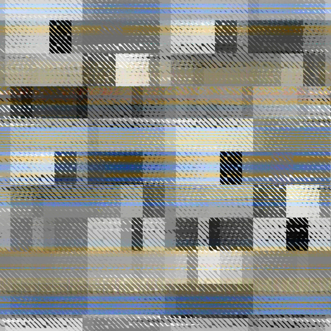 Aged linen Gauze Blocks fabric by joanmclemore on Spoonflower - custom fabric