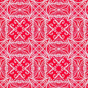Watercolor Lace Energy, Red, Medium