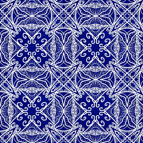 Watercolor Lace Energy, Indigo, Medium