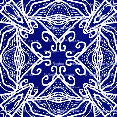 Watercolor Lace Energy, Indigo, XL
