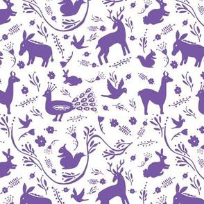 Woodland Otomi - Purple (small)