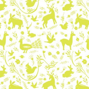 Woodland Otomi - Lime Green (small)