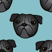 Pug mugs in black
