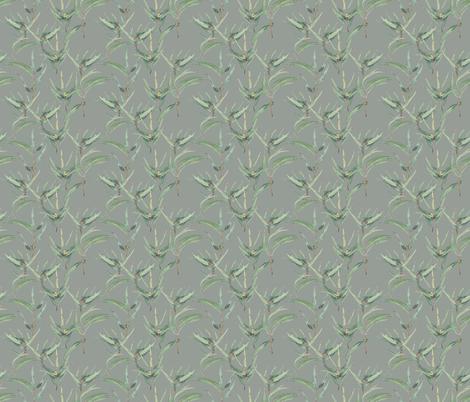 Eucalyptus - grey fabric by youdesignme on Spoonflower - custom fabric