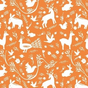 Woodland Otomi - Orange Background (small)