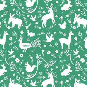 Woodland Otomi - Green Background (small)
