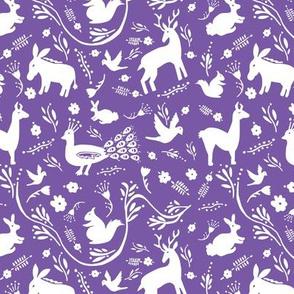 Woodland Otomi - Purple Background (small)