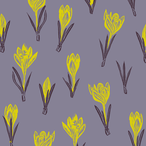 midsummer night's crocuses fabric by weavingmajor on Spoonflower - custom fabric
