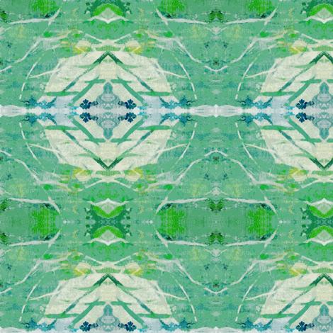 Aqua Green Diamond & Bulb Abstract fabric by elizabethvitale on Spoonflower - custom fabric