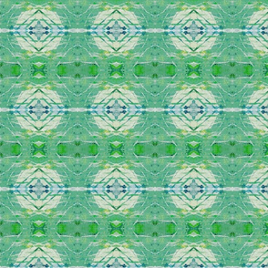 Aqua Green Diamond & Bulb Abstract
