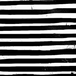 Black & White Painted Stripes