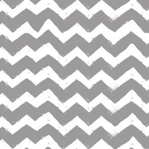 Gray & White Zig Zag Stripes