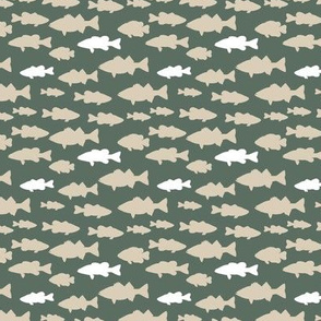 (small scale) fish || dark sage C18BS2