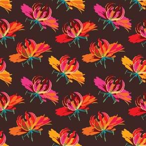 Tropical flower collaborative flower | 2