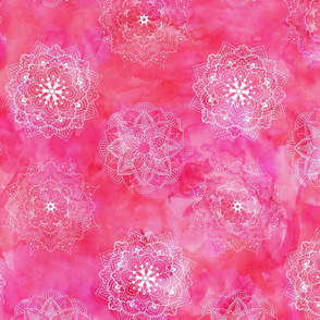 Watercolor Mandala Pink