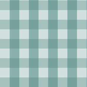 Large Blue Green Check: Watery Blue Check Medium