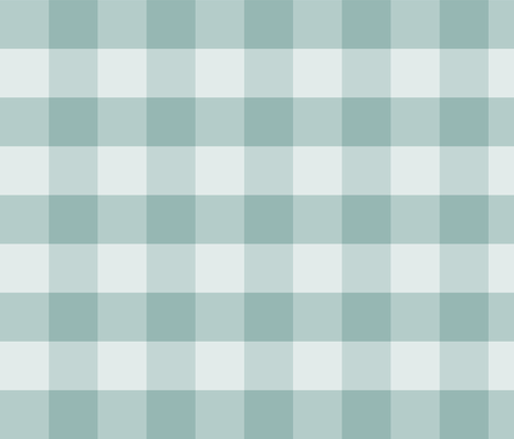 Large Blue Green Check: Watery Blue Check Dark fabric by dept_6 on Spoonflower - custom fabric