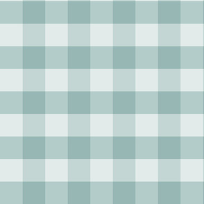 Large Blue Green Check: Watery Blue Check Dark