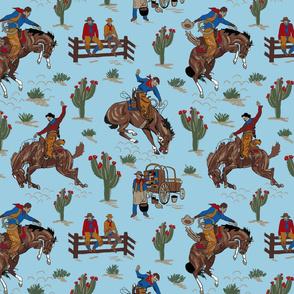 blue cowboys 12x12