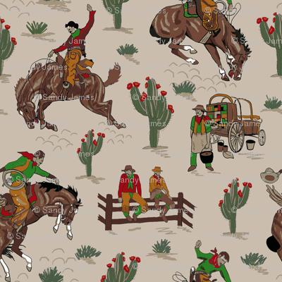 tan cowboys 6x6