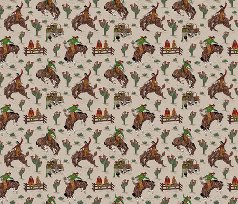 tan cowboys 6x6 fabric by leroyj on Spoonflower - custom fabric