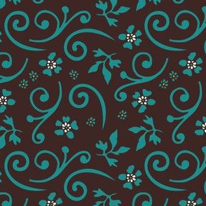 Tropical flower coordinating pattern | 2