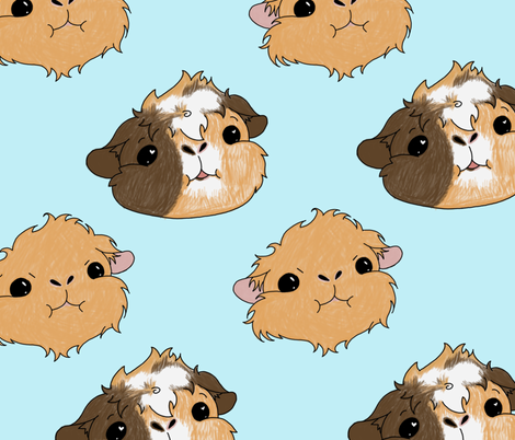 My little guineas fabric by annaotaku on Spoonflower - custom fabric