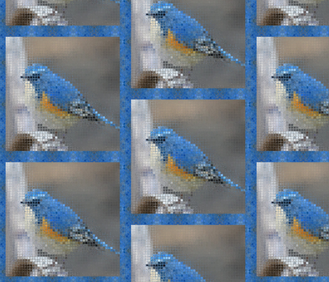 bird-mosaic-1200 fabric by gifts_4_all on Spoonflower - custom fabric