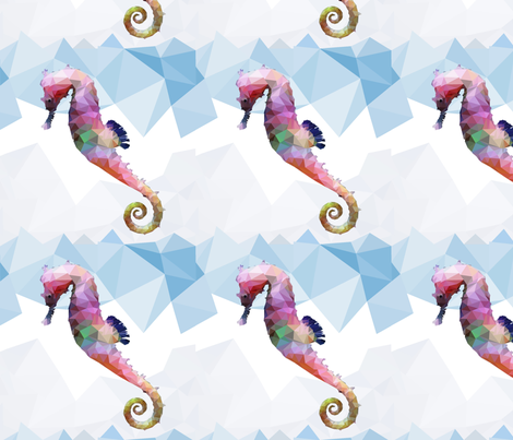 Crystal Seahorse fabric by frankie_maree on Spoonflower - custom fabric