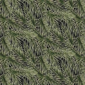 Palm Fronds on Black