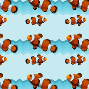 Geometric Clown fish