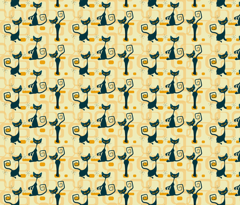 Atomic cats fabric by roofdog_designs on Spoonflower - custom fabric