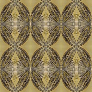 Faded golden feather totem -mirrored V