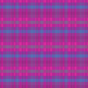 Pink and Purple Plaid with Blue Stripe