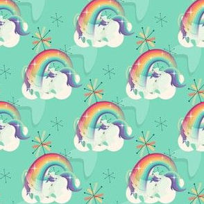 Sleeping unicorn and rainbow