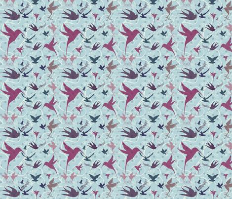birds fabric by sunflowerfields on Spoonflower - custom fabric