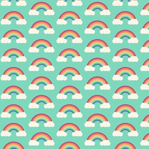 Simple bright rainbow cloud pattern