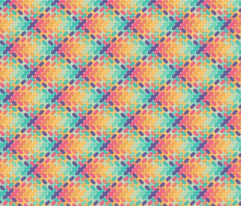 Woven rainbow fabric by roofdog_designs on Spoonflower - custom fabric