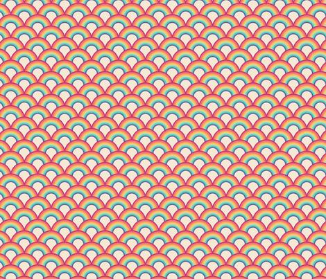 Retro rainbows fabric by roofdog_designs on Spoonflower - custom fabric