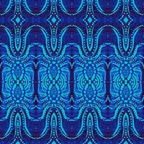 Cool blue print crop
