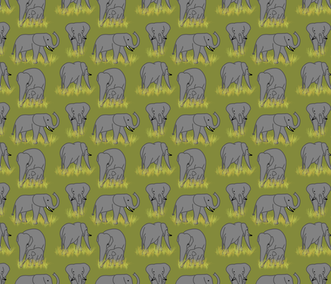 Elephants fabric by chiral on Spoonflower - custom fabric