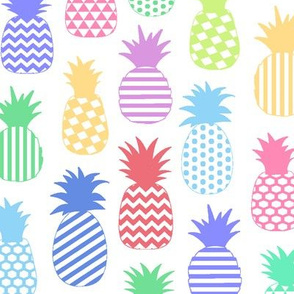 Pastel Pineapples // Large-size