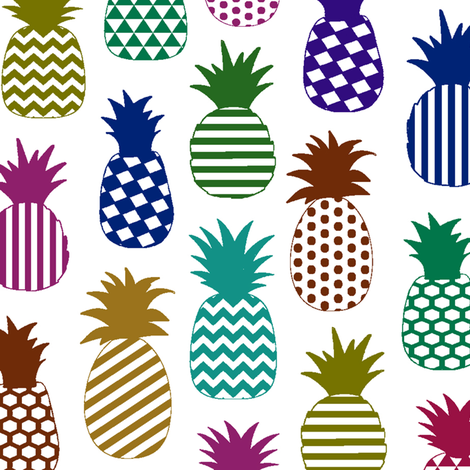 Pineapple Medley // Large-size fabric by thinlinetextiles on Spoonflower - custom fabric