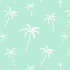 Surfergirl/Palm/mintgreen