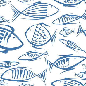 fishes white navy
