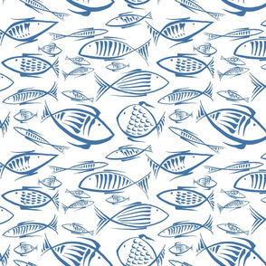 fishes white navy50