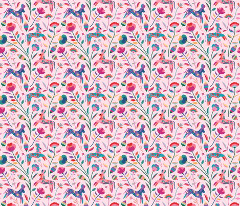 Painted Dogs fabric by carlywatts on Spoonflower - custom fabric