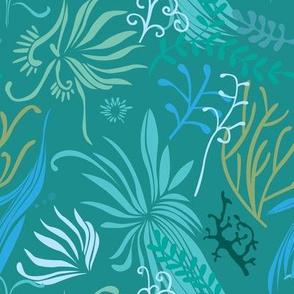 Aqua pattern collabrative | seaweed 1